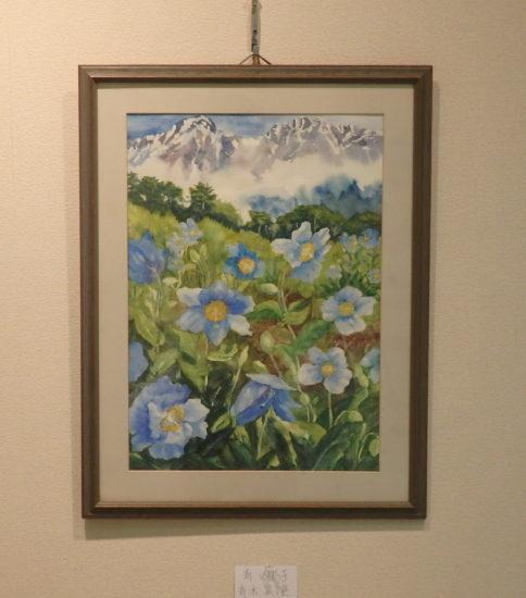 岸和田絵画教室(彩展) 青い芥子