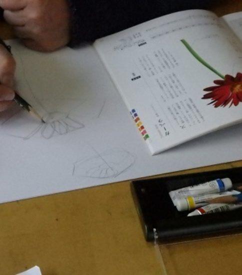 ペン画で、封筒にイラストを描く