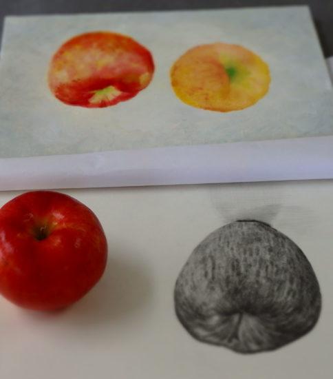リンゴの絵