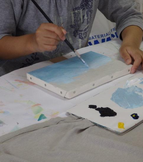 油絵で描く、静物