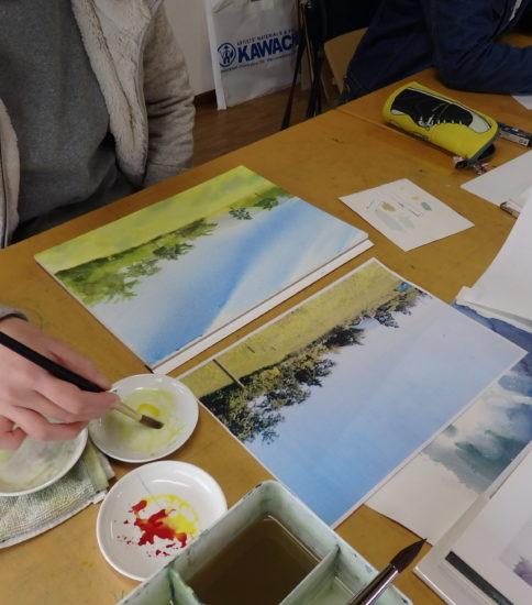 岸和田で 水彩画を学ぶ