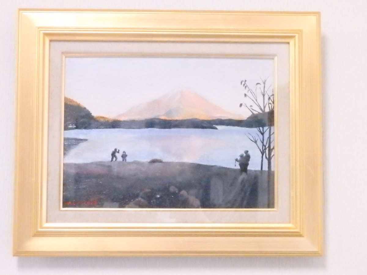 油彩で描く 富士山