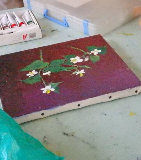 身近な 草花を描く 油彩
