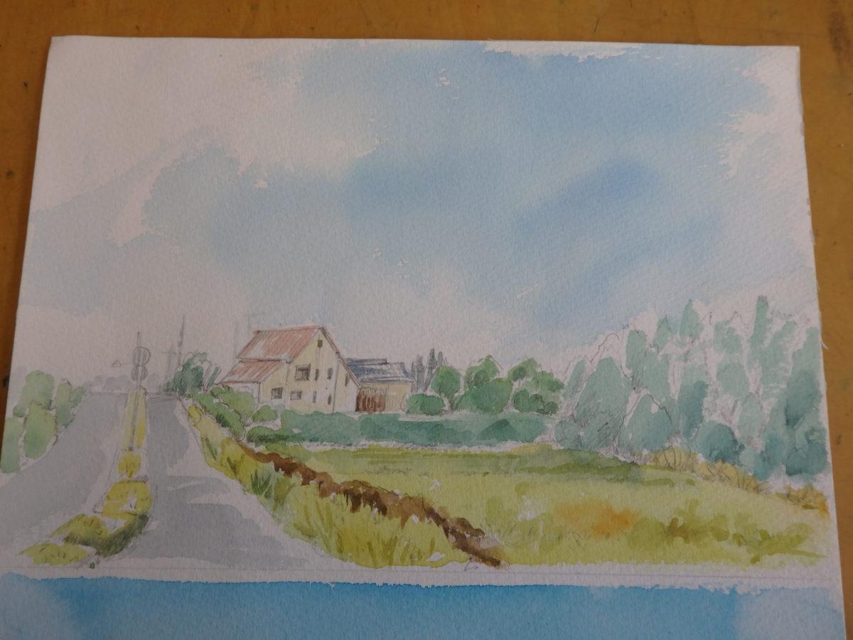 旅先で描く 風景画