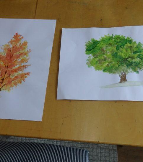 木 を描く